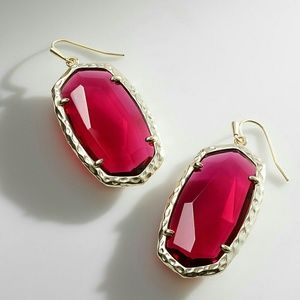Kendra Scott Ella Drop Earrings in Berry Glass